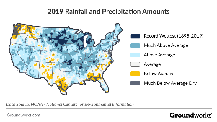 2019 rainfall worst cities map