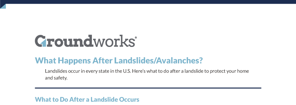 What Happens After Landslides Avalanches Printable Groundworks